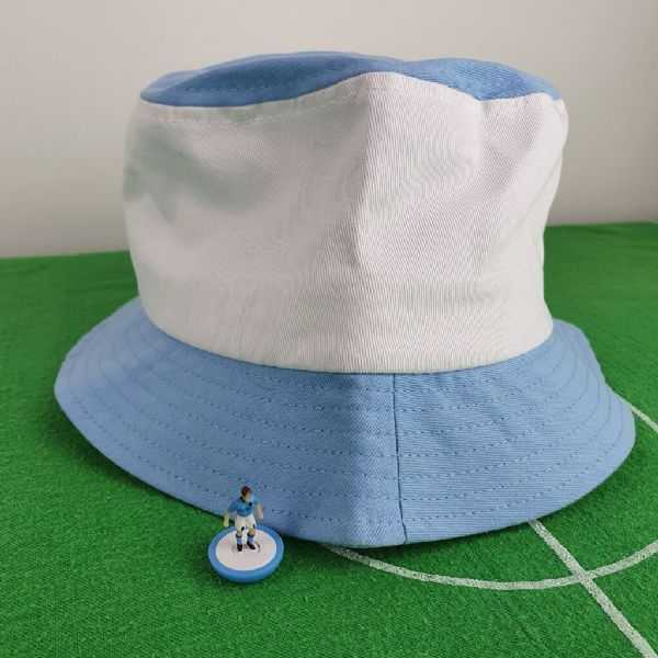 Sky blue and white City bucket hat